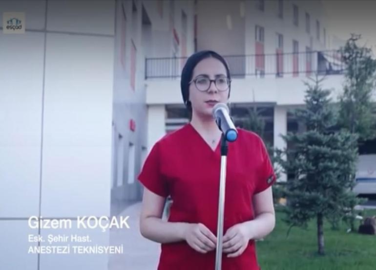 Sağlık çalışanlarından Covid-19 nedeniyle hayatını kaybeden meslektaşlarına anlamlı klip