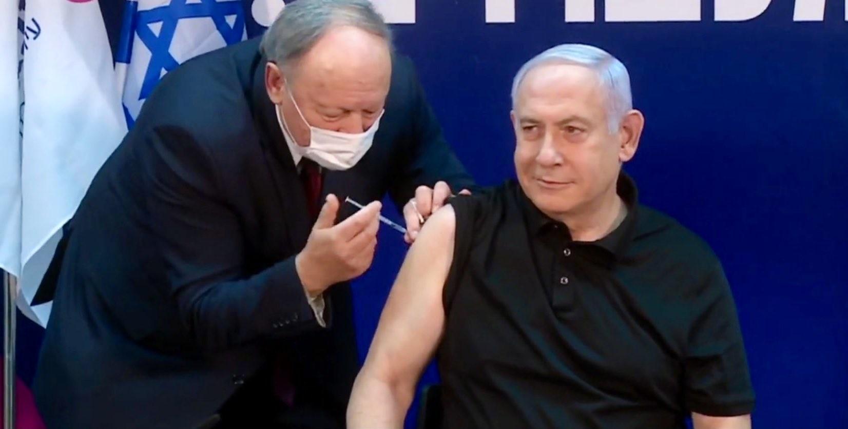 İsrail Başbakanı Netanyahu canlı yayında korona virüs aşısı oldu