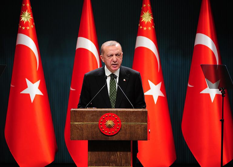 Son dakika: Kabine toplantısı sonrası Cumhurbaşkanı Erdoğan'dan korona virüsü yasakları ve aşı açıklaması
