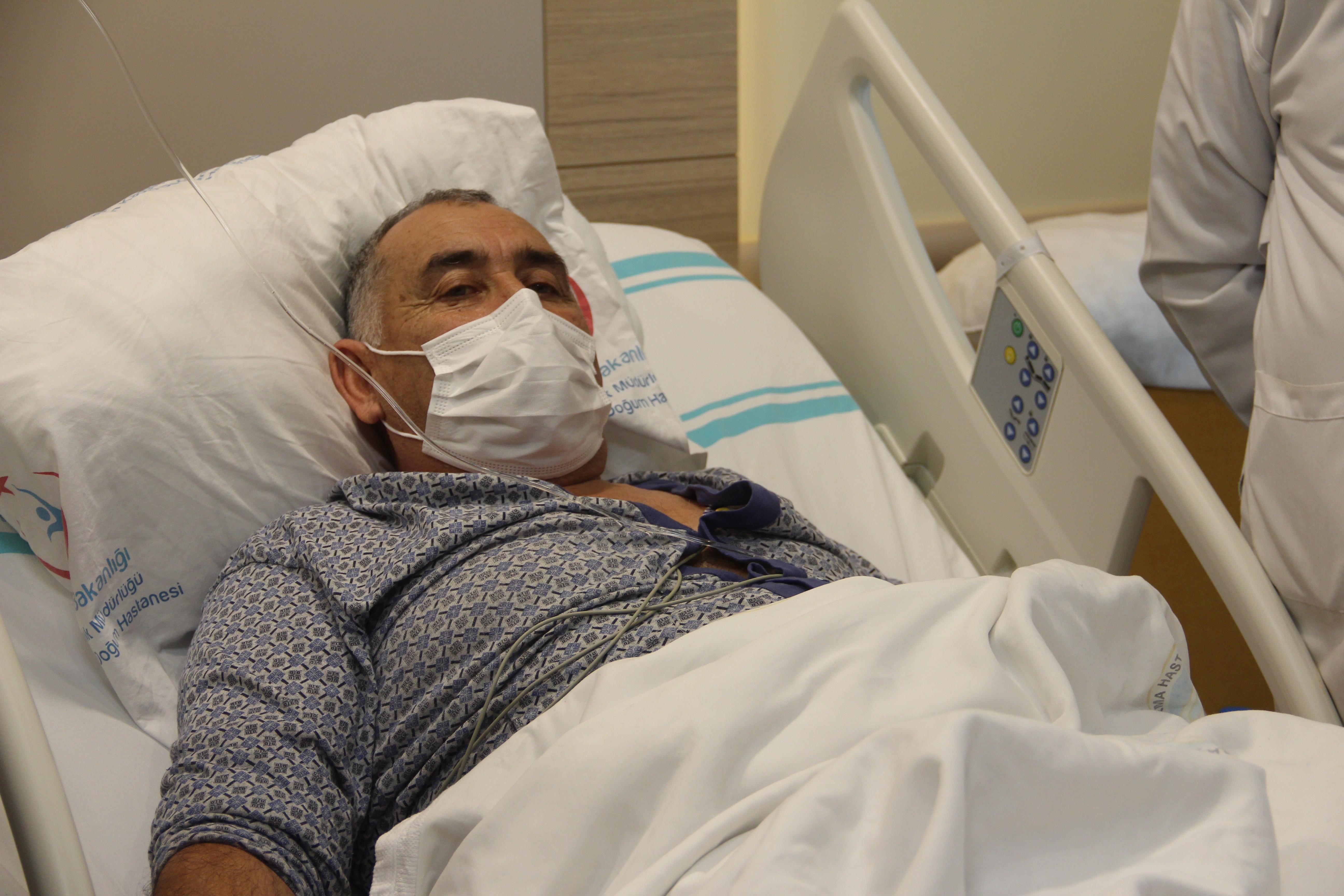 Erzurum'da pandemi sürecinde ilk defa yurt dışından gelen bir hasta ameliyat edildi