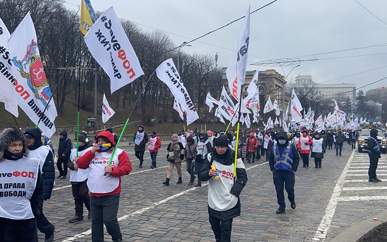 Ukrayna'daki yeni karantina uygulaması, 20 bin kişi tarafından protesto edildi