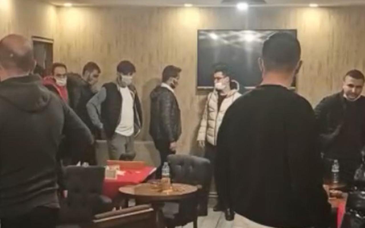 Konya'da kısıtlama kurallarını ihlal eden 39 kişi, kafenin gizli bölmesinde yakalandı