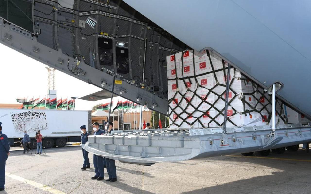 150 bin doz Covid-19 aşısı Libya'ya teslim edildi