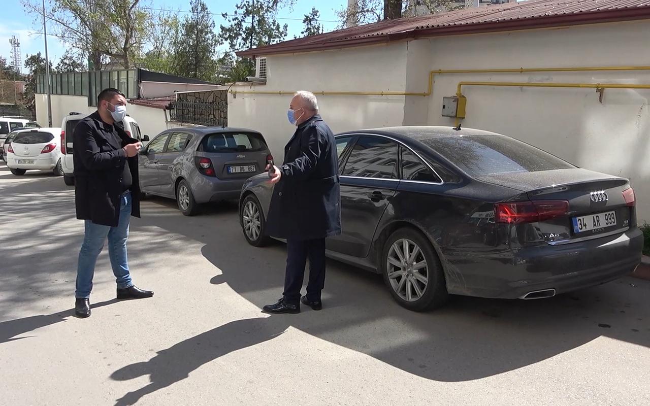 Covid-19 testi pozitif olan avukat, bürosunda çalışırken yakalandı