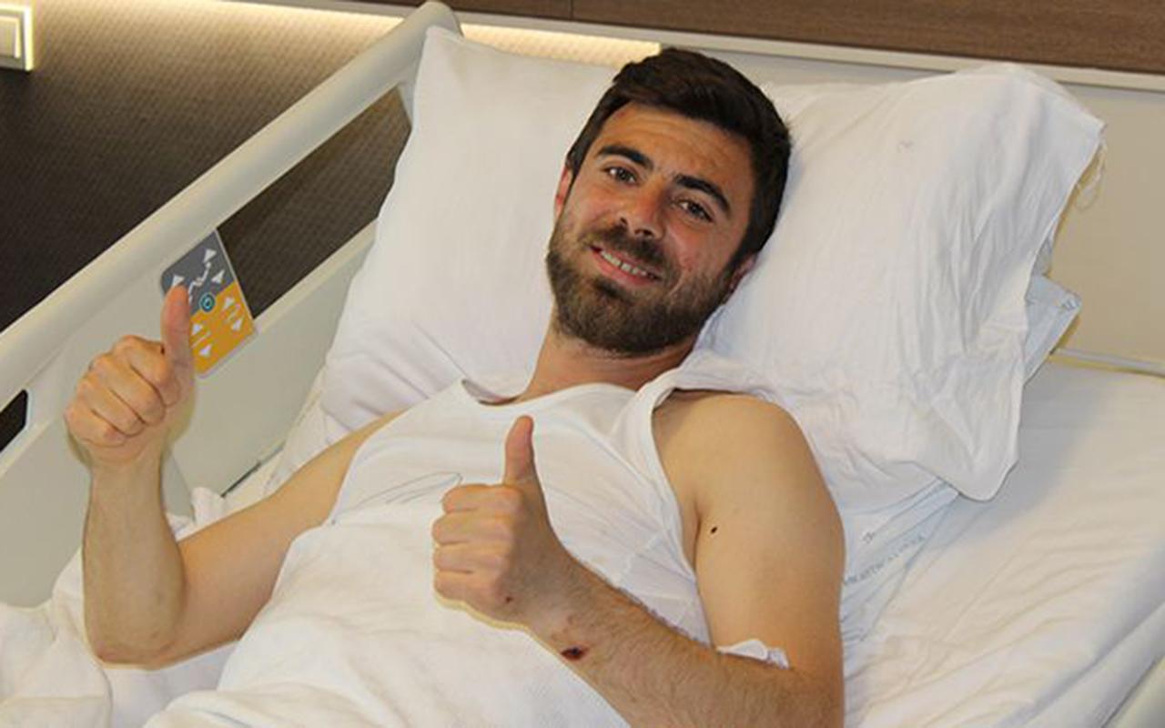 Şampiyonluk kutlamasında otobüsten düşmüştü: Kocaelispor'da Bahri Can Avcı'nın belinde çatlak çıktı!