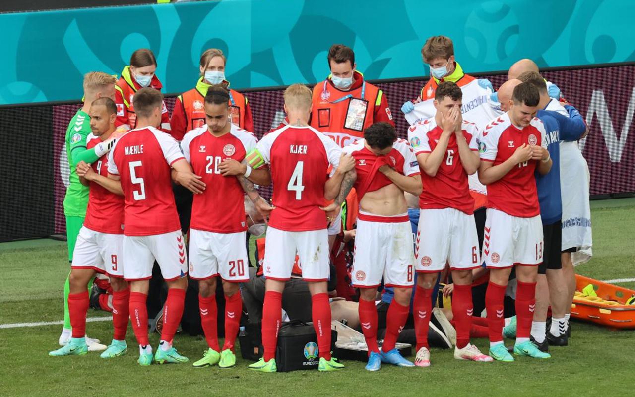 Danimarkalı futbolcu Eriksen maç sırasında fenalaştı