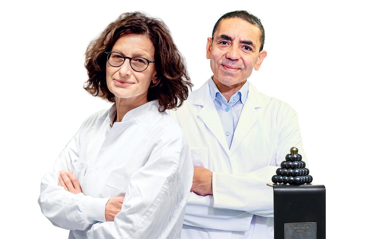 25. Aydın Doğan Ödülü, bilim insanları Dr. Özlem Türeci ve Prof. Dr. Uğur Şahin'e verildi
