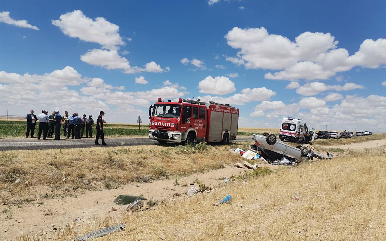 Kayseri'de otomobil şarampole devrildi: 1 ölü, 1 yaralı