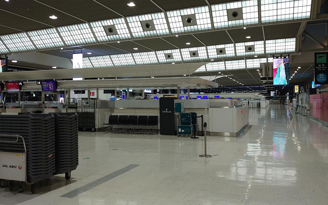 Seyahat kısıtlamaları, Japonya'da havaalanını boş bıraktı