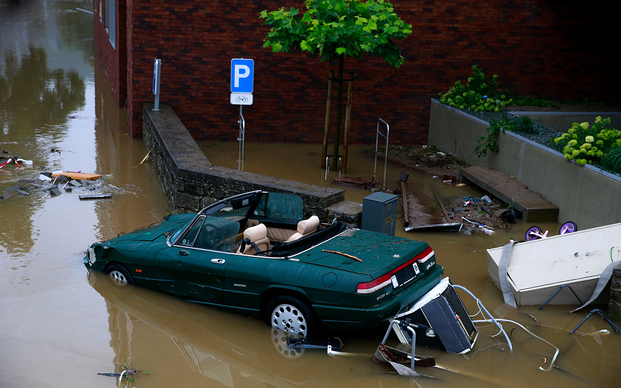 Belçika'daki sel felaketinde bilanço ağırlaşıyor: Can kaybı sayısı 12'ye çıktı