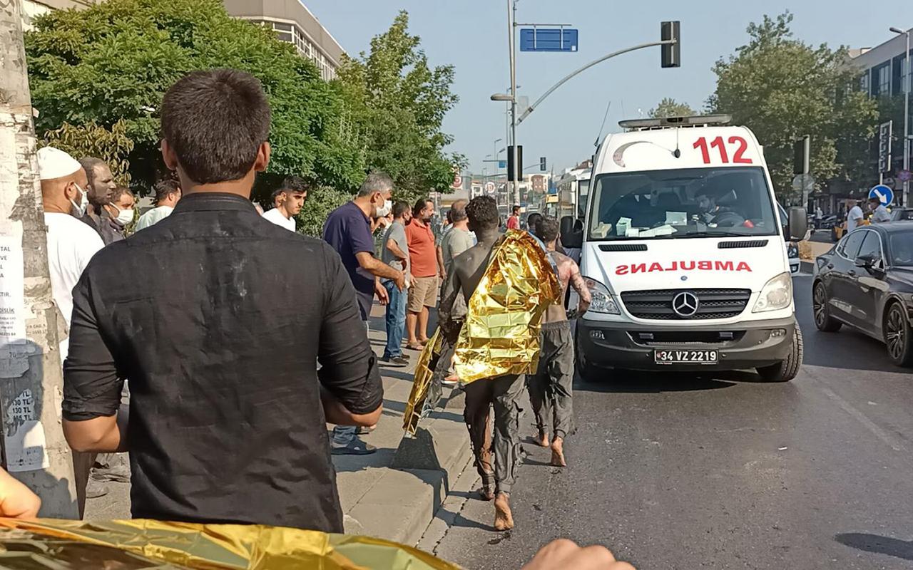 İstanbul'da iş yerinde patlama: 6 yaralı