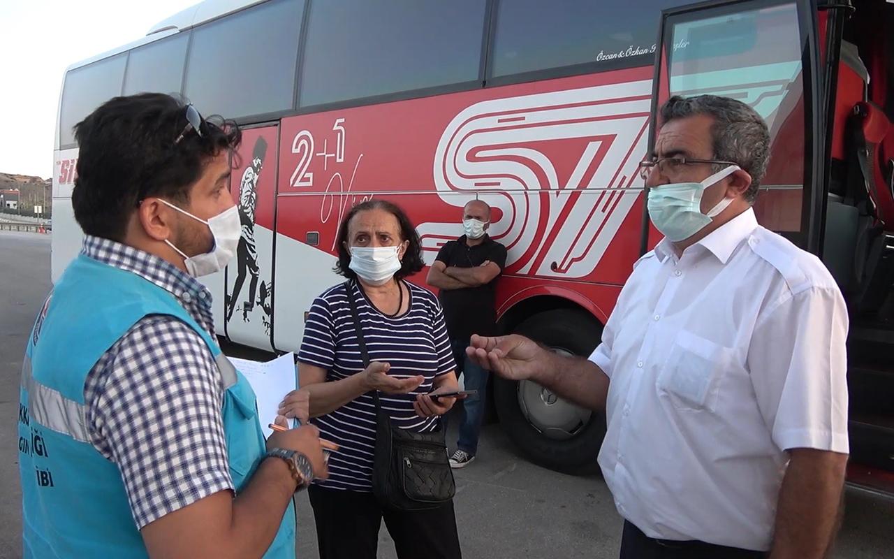 Covid-19 hastası kadını otobüse alan şoförün HES kodu bahanesi pes dedirtti: