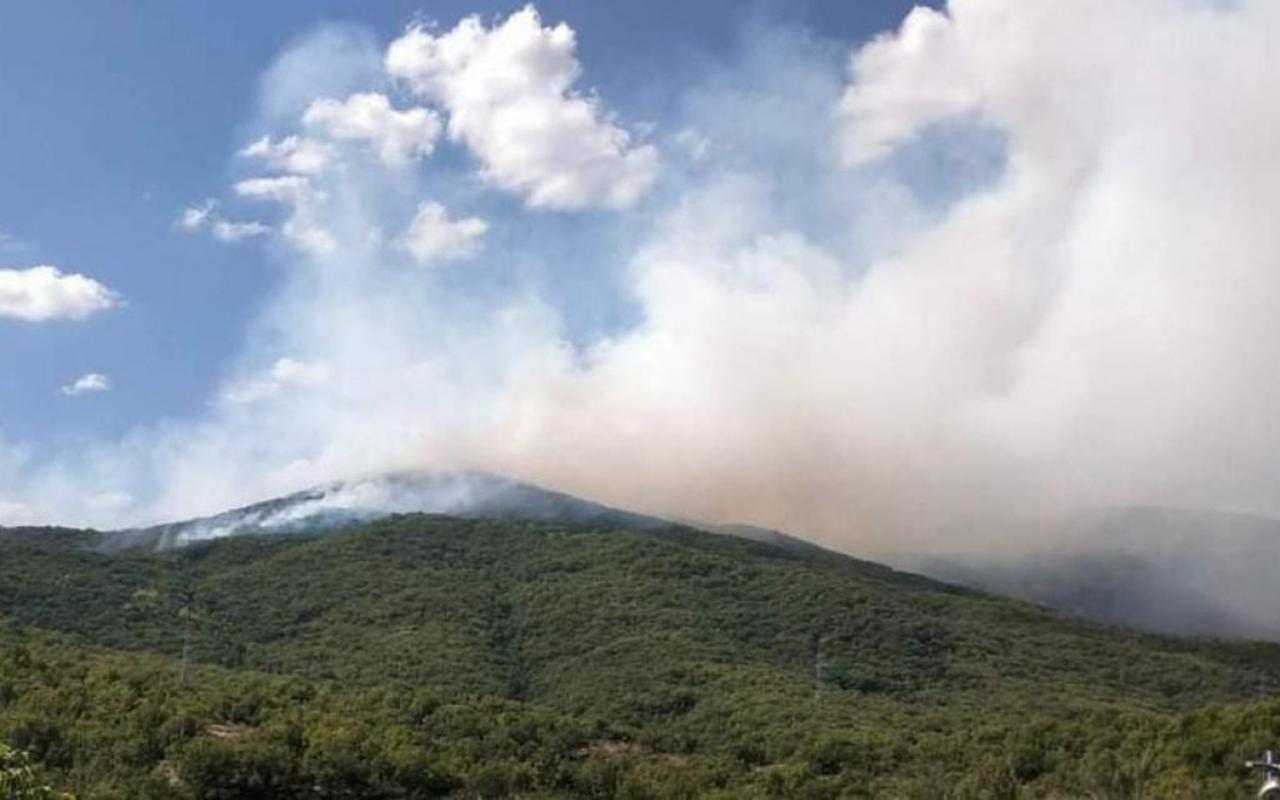 Tunceli'de örtü yangını! Havadan müdahale ediliyor
