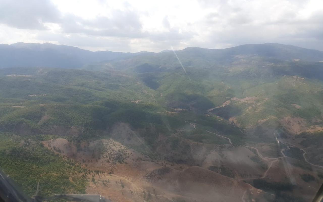 Tunceli'deki örtü yangını söndürüldü