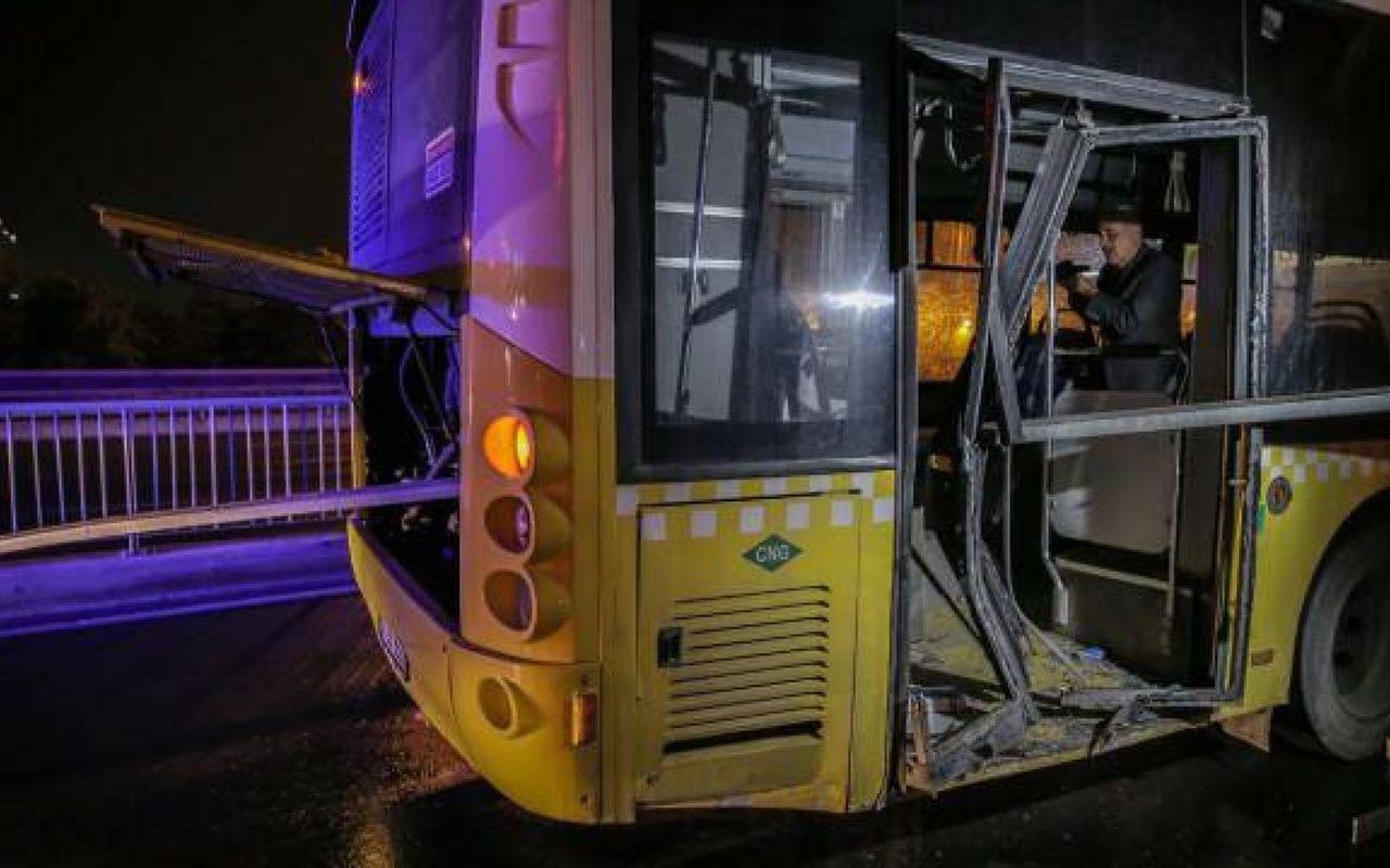 Halk otobüsünün motoruna bariyer saplandı: 1'i ağır 4 yaralı